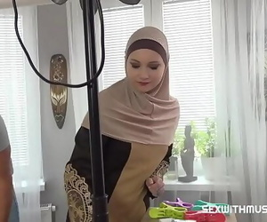 A Muslim cleaning lady was..